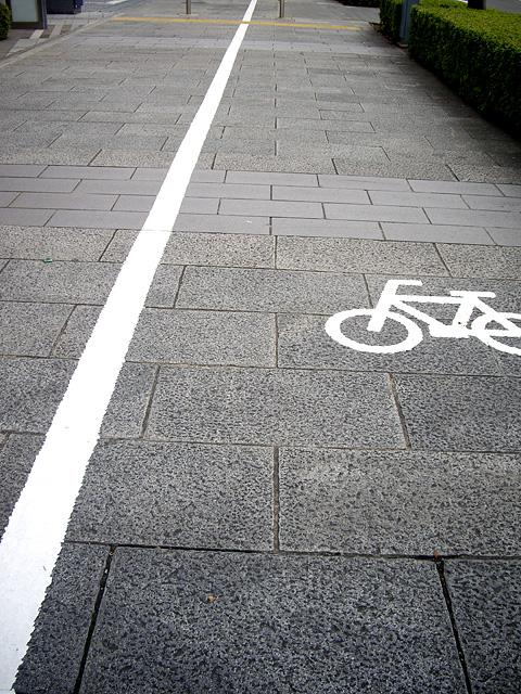 自転車が通る道
