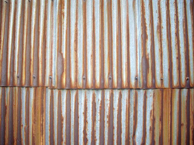錆びついた壁