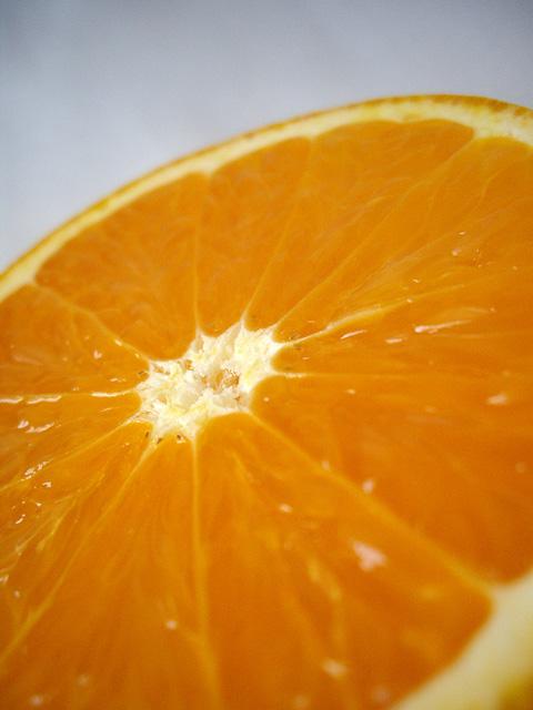 オレンジの断面のフリー写真素材