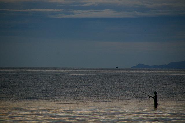 釣り人の無料写真素材
