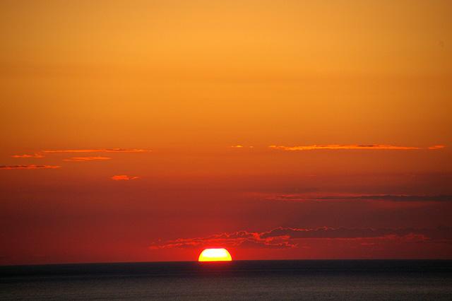 沈みゆく夕日その3