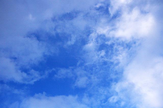 澄みきった空