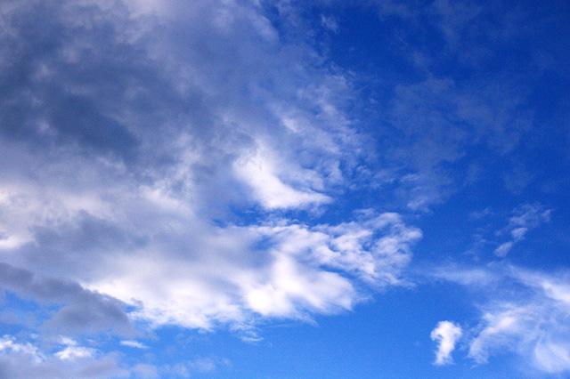 空に広がる雲