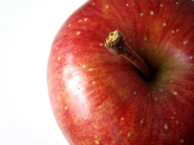 上から見た林檎