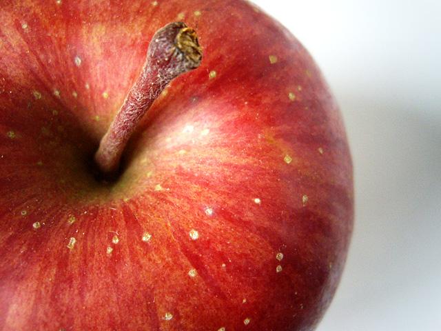 上から見た林檎の無料写真素材