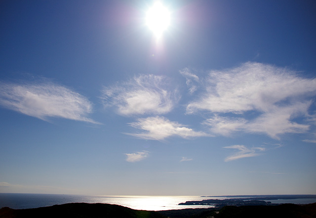 太陽と海の写真素材 フリー