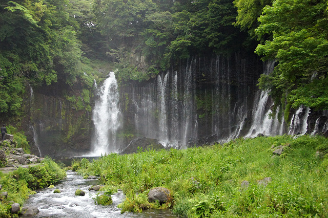白糸の滝の写真素材 フリー