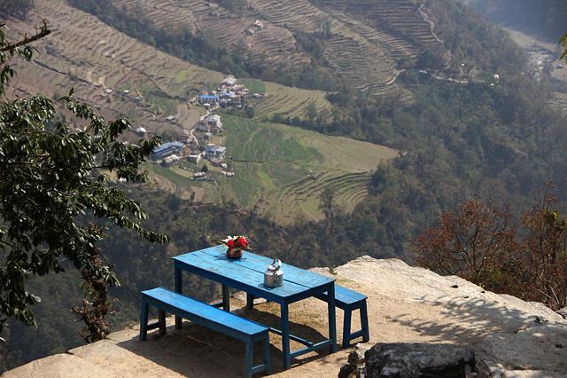 絶景のテーブル席