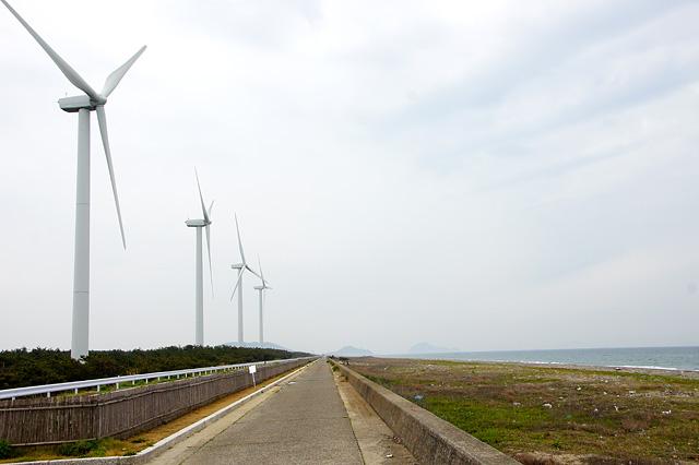 風力発電機の無料写真素材