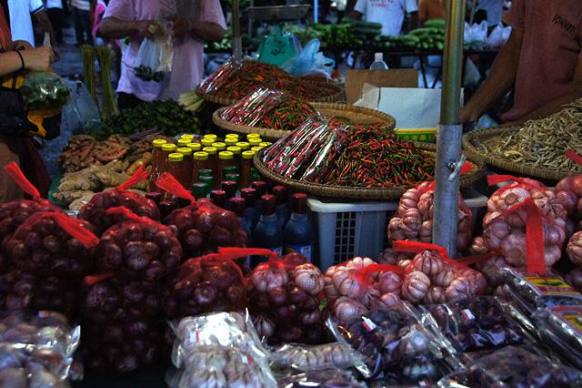 東南アジアの市場の写真素材 フリー