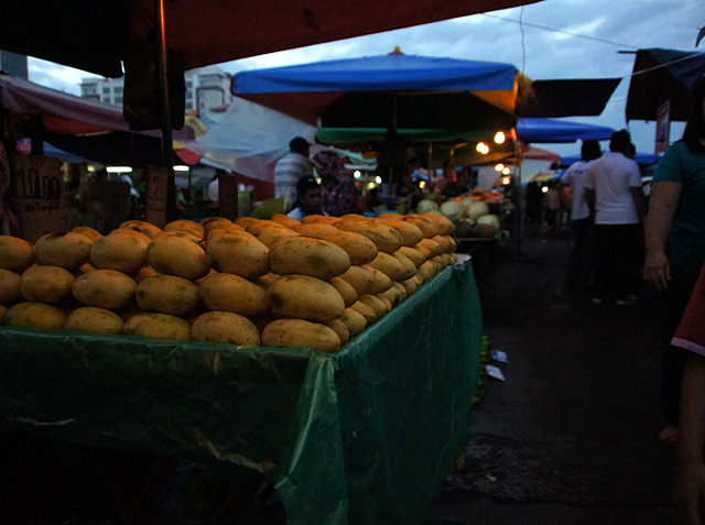 ボルネオ島の市場