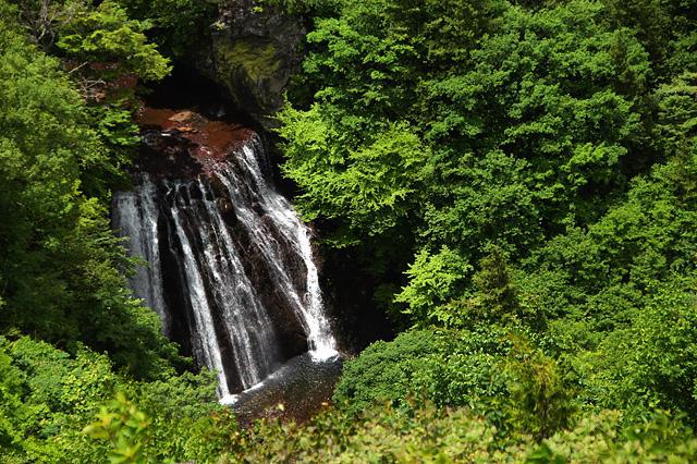 横谷峡の王滝の写真素材 フリー