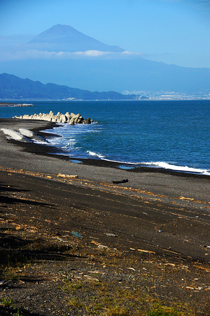 三保の松原と富士山の写真素材 フリー