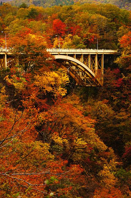 鳴子峡の大深沢橋