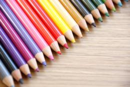 色鉛筆のフリー写真素材