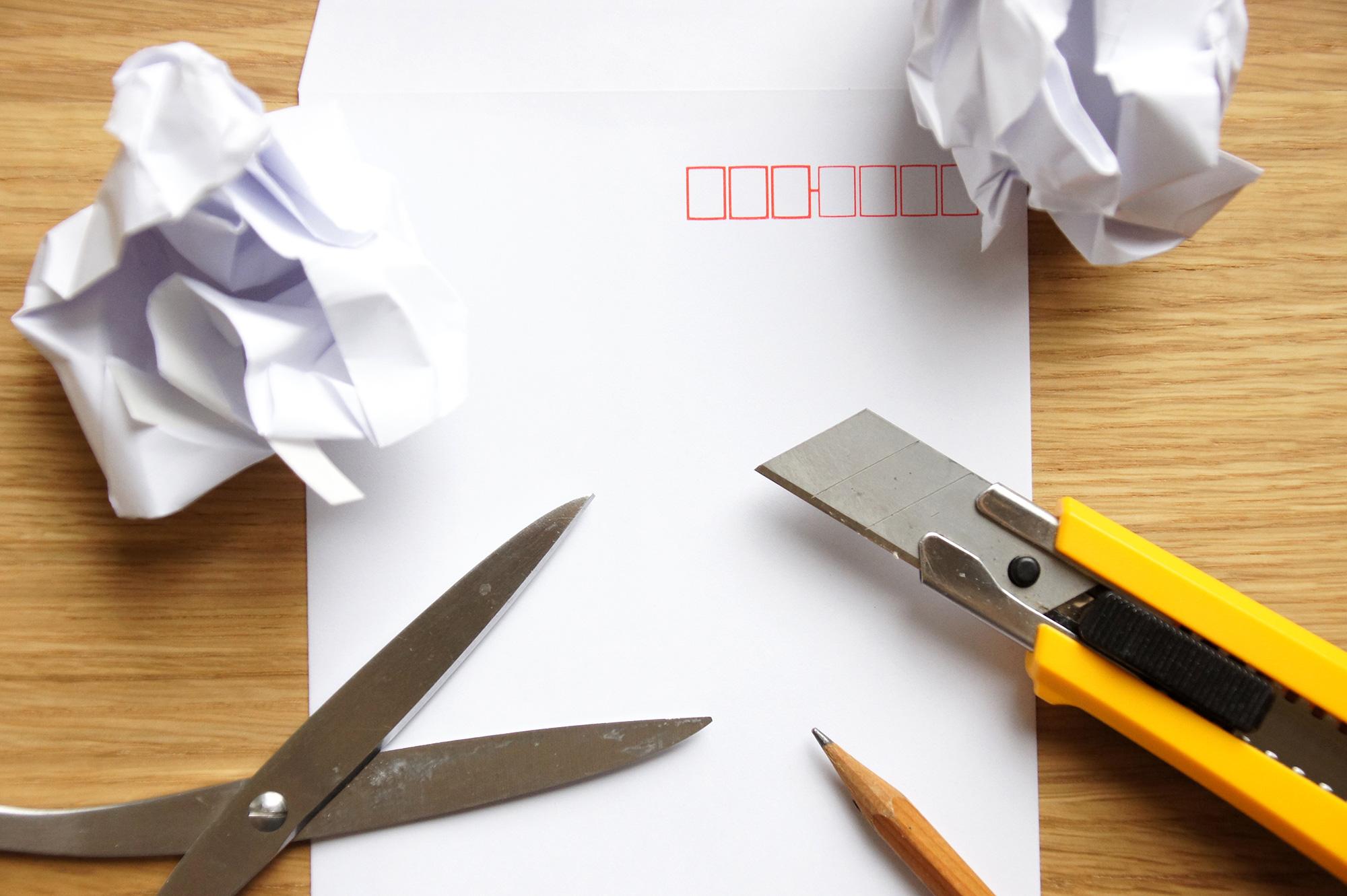 事務用品イメージのフリー写真素材