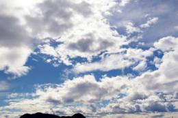 たくさんの雲のフリー画像素材