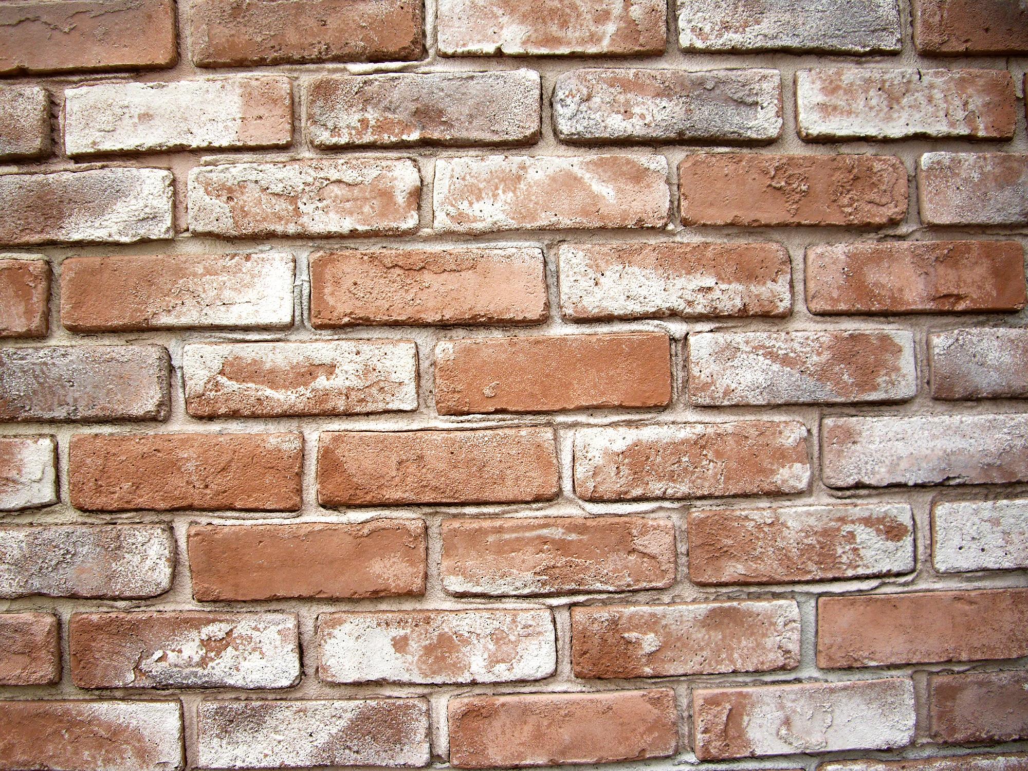 レンガの壁面の写真のフリー素材