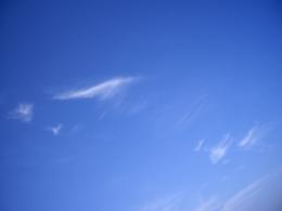 晴れた日の空