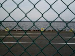 フェンスの向こうの海