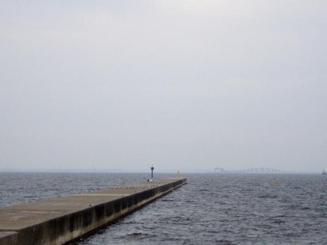 防波堤の無料写真素材