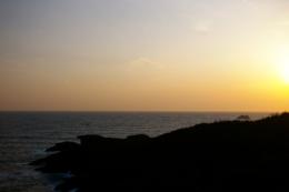 夕暮れの水平線の無料写真素材