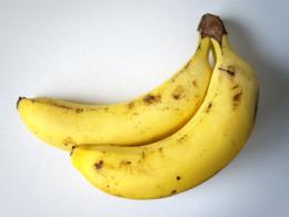 おいしそうなバナナの写真の無料素材