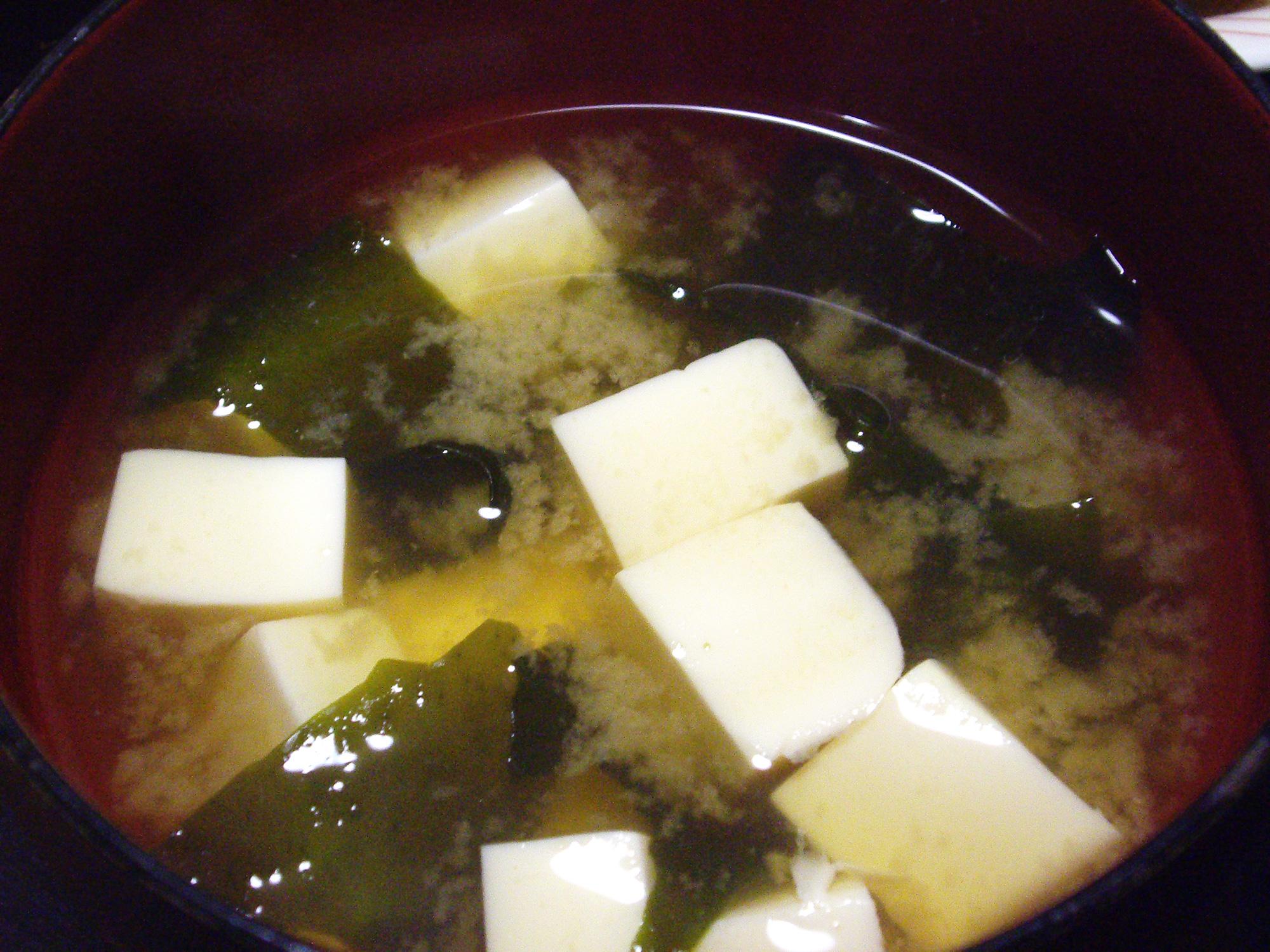 味噌汁の写真のフリー素材