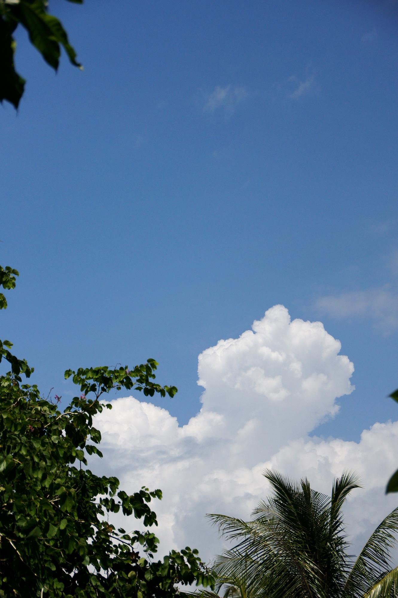 入道雲と青空のフリー写真素材