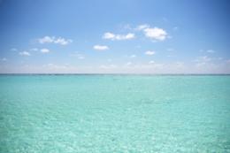 南の島の水平線のフリー写真素材