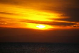 夕焼けの写真のフリー素材
