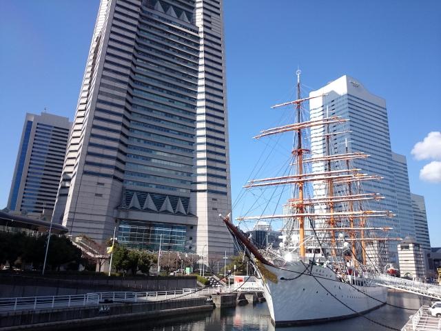 帆船日本丸と横浜みなとみらい