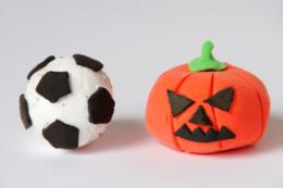 カボチャとサッカーボール