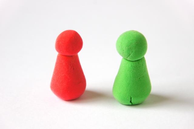 粘土で作った人形