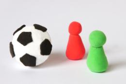 粘土の人とボール