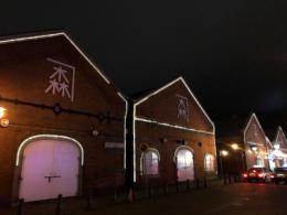 夜の函館金森赤レンガ倉庫