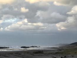 寂しい砂浜