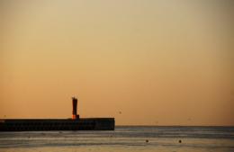 城ヶ島の防波堤のフリー写真素材