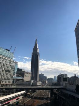 新宿の南側のフリー写真素材