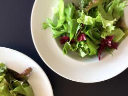 洋食のサラダの無料写真素材