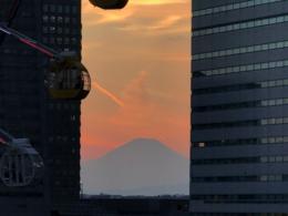 横浜から見た富士山の写真の無料画像素材