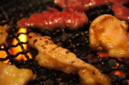 焼き肉のホルモンのフリー写真素材