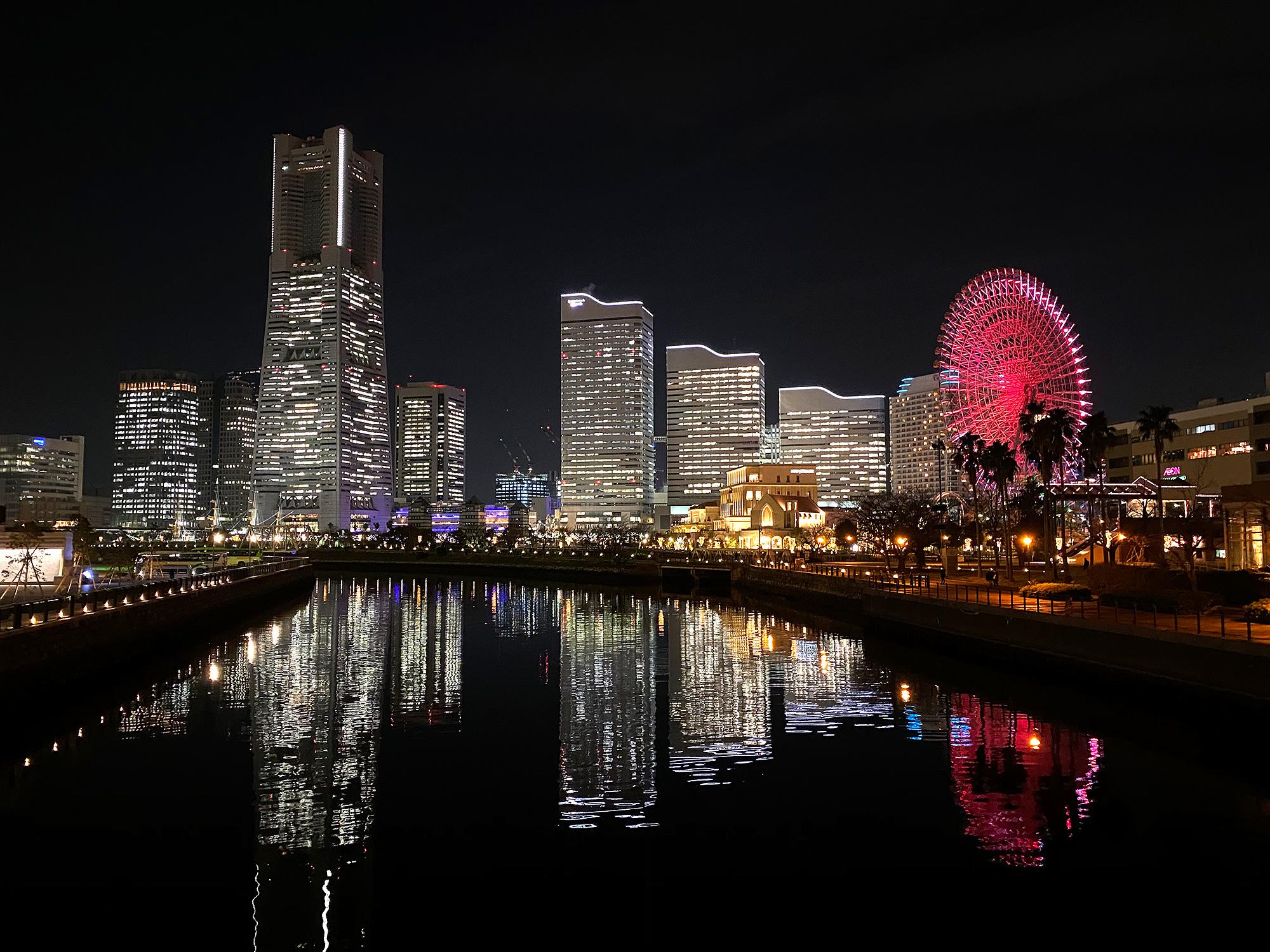 万国橋から見たみなとみらいの夜景